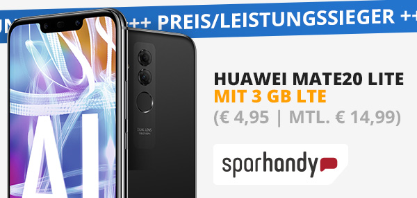 Huawei Mate20 Lite mit o2 Blau L